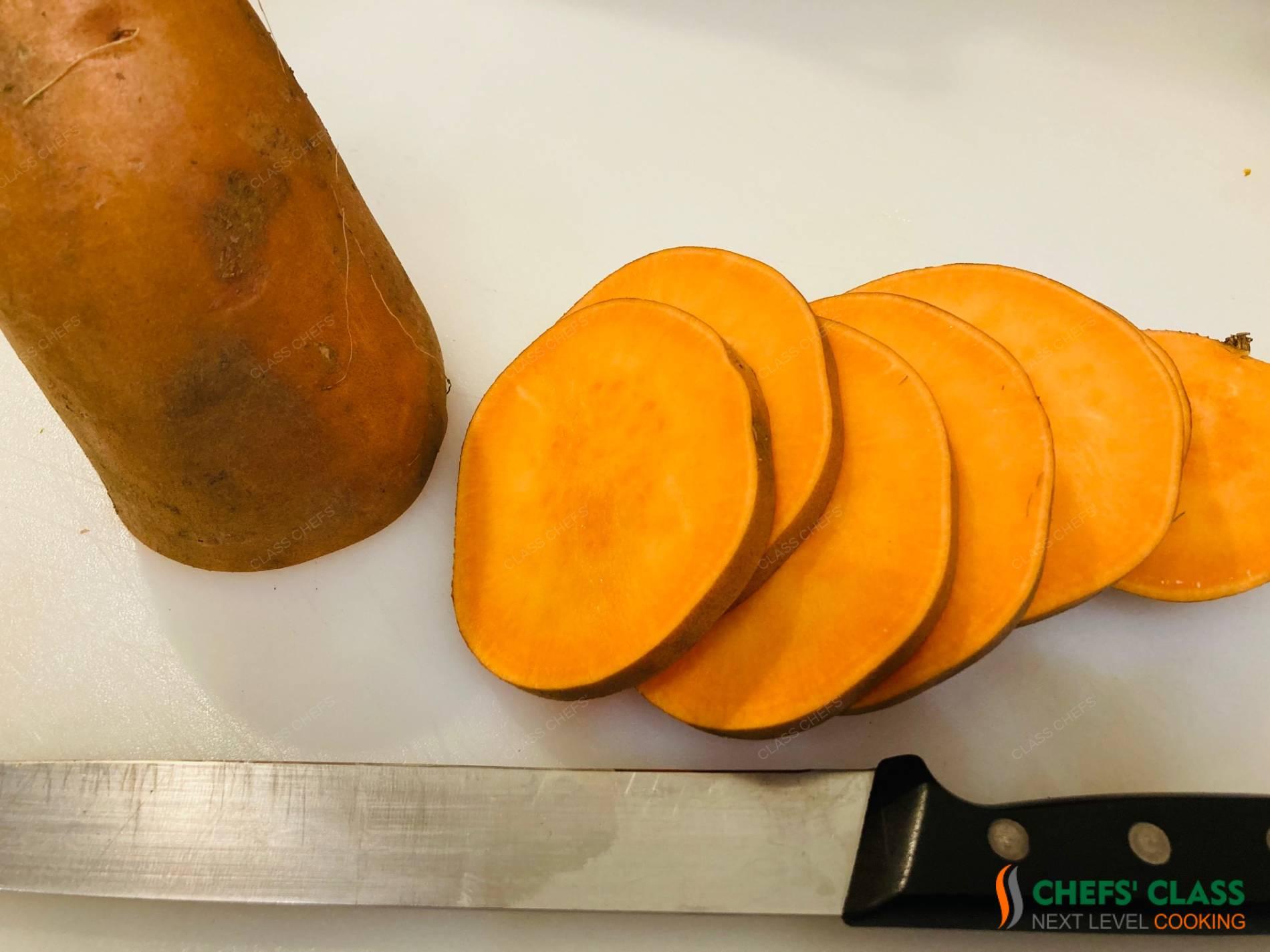 Sautierte Süßkartoffel-Knöpfe